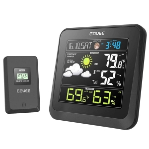 Govee Color LCD Wireless Weather Station – Coupon Code V63RITCE – Final Price: $21.99 (was $32.99)