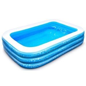 Hesung 95″X56″X21″ Inflatable Kiddie Pool – Clip Coupon + Coupon Code T76J9DBV – $39.99 (was $79.99)