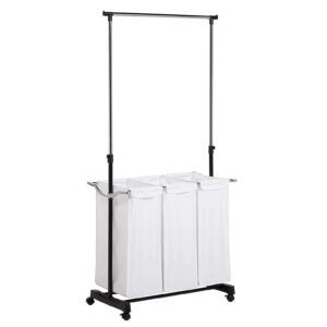 Honey-Can-Do Rolling Laundry Cart with Hanging Bar – Price Drop – $28.49 (was $38.99)