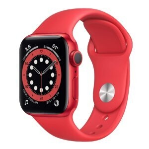 New Apple Watch Series 6 (GPS, 40mm, Red) – $319.99 – Clip Coupon – (was $384.98)