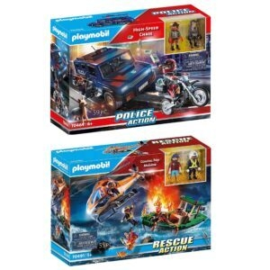 Playmobil Toys ( High-Speed Chase and Coastal Fire Mission) – Price Drop – $20.88 (was $29.84)