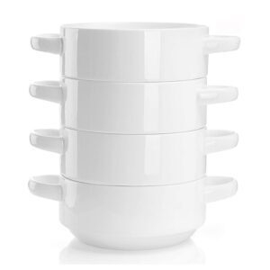 Set of 4 Sweese 108.101 Porcelain Bowls with Handles – Coupon Code ZKXC7O5J – Final Price: $18.59 (was $30.99)