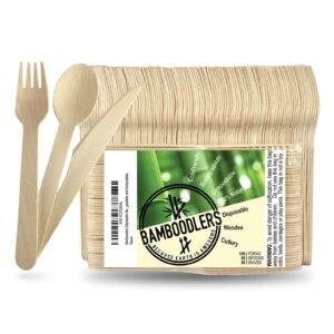 200-Count Bamboodlers Disposable Wooden Cutlery Set – $10.95 – Clip Coupon – (was $17.95)