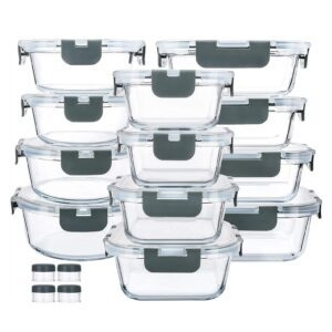 24-Piece M Mcirco Glass Food Storage Containers – Clip Coupon + Coupon Code 15QD17IU – $27.19 (was $37.99)