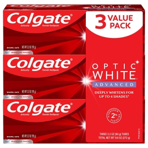 3-Pack Colgate Optic White Advanced Teeth Whitening Toothpaste – $8.59 – Clip Coupon – (was $10.58)