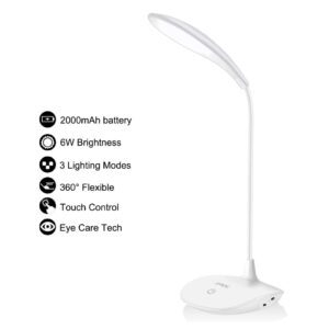 Afrog Multifunctional Rechargeable LED Desk Lamp – Clip Coupon + Coupon Code 8KAA8888 – $8.54 (was $18.99)