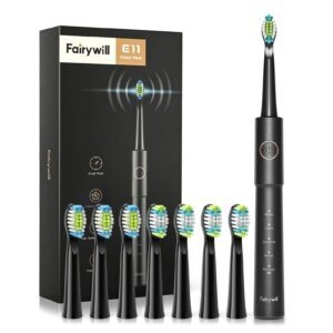 Fairywill E11 Sonic Electric Toothbrush – Clip Coupon + Coupon Code 7UX6TXRL – $12.69 (was $22.99)