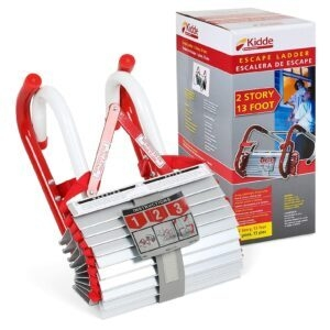 Kidde Two-Story (13-Foot) Fire Escape Ladder with Anti-Slip Rungs – Price Drop – $27.80 (was $38.80)