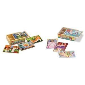 Melissa and Doug Wooden Jigsaw Puzzles in a Box – Price Drop – $9.58 (was $22.68)