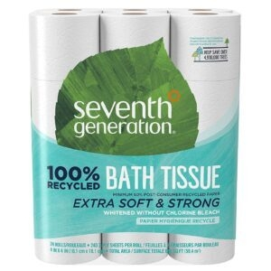 Seventh Generation 2-Ply White Toilet Paper – $18.85 – Clip Coupon – (was $29)