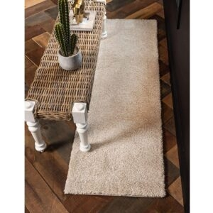 Unique Loom Solo Collection Solid Plush Kids Ivory Runner Rug – Price Drop – $28.99 (was $58.30)