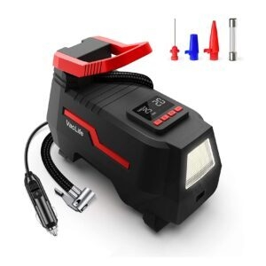 VacLife Tire Inflator Air Compressor – Clip Coupon + Coupon Code VLGO731RE – $13.99 (was $29.99)