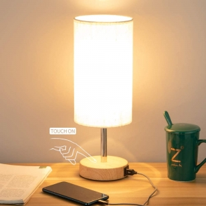 Yarra-Decor Touch Control Dimmable LED Lamp with USB Port – $18.84 – Clip Coupon – (was $28.99)