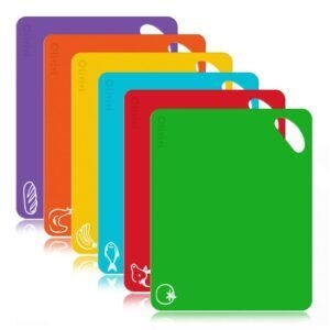 6-Pack Extra Thick Flexible Plastic Kitchen Cutting Board Mat – Coupon Code 70ACOC14 – Final Price: $6 (was $19.99)