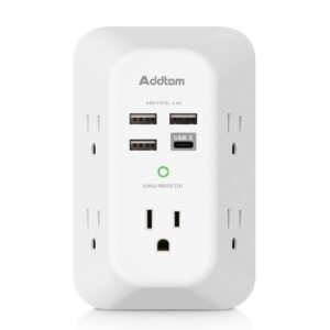 Addtam USB Wall Charger Surge Protector 5-Outlet Extender – Price Drop – $13.60 (was $18.99)
