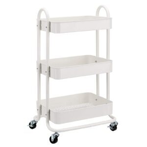 Amazon Basics 3-Tier Rolling Utility or Kitchen Cart – Price Drop – $29.66 (was $44.99)