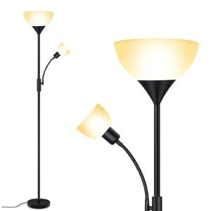 BoostArea Standing LED Floor Lamp – Clip Coupon + Coupon Code MBOKZFMC – $23.49 (was $46.99)