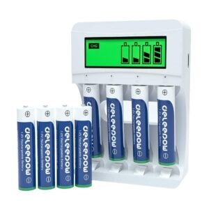 Deleepow 8PCS AAA Rechargeable Batteries with LCD Smart Battery Charger – Coupon Code 40RJ53IR – Final Price: $11.99 (was $19.99)