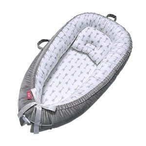 EIH 100% Soft Cotton Breathable and Portable Baby Lounger – Coupon Code MBVGVMV6 – Final Price: $26.49 (was $52.99)