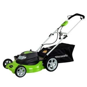 Greenworks 3-in-1 Electric Corded Lawn Mower (12 Amp, 20-Inch)- Price Drop – $129.99 (was $199.99)