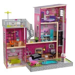 KidKraft Uptown Wooden Modern Dollhouse with Lights and Sounds – Price Drop – $99 (was $163.09)