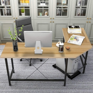 KingSo L-Shaped 59″ Office Desk – $53.99 – Clip Coupon – (was $89.99)