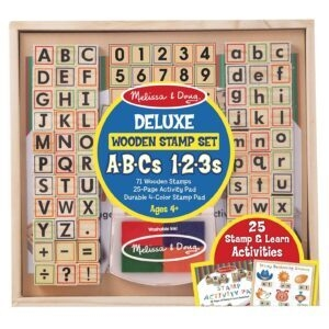 Melissa and Doug Deluxe Letters and Numbers Wooden Stamp Set – Price Drop – $13.60 (was $19.99)