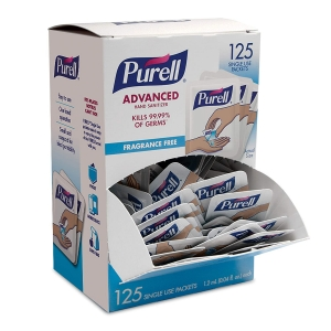 125-Count Purell SINGLES Advanced Hand Sanitizer Gel – Price Drop – $12.01 (was $18.04)