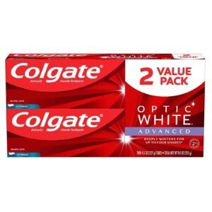 2-Pack Colgate Optic White Advanced Teeth Whitening Toothpaste – Price Drop + Clip Coupon – $6.52 (was $11.22)