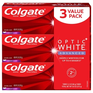 3-Pack Colgate Optic White Advanced Teeth Whitening Toothpaste with Fluoride – Price Drop + Clip Coupon – $5.71 (was $14.45)