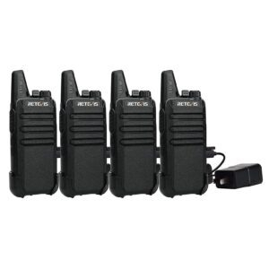 4-Pack Retevis Two Way Radio Long Range Rechargeable Walkie Talkie – Clip Coupon + Coupon Code OWAX3XP3 – $38.34 (was $58.99)