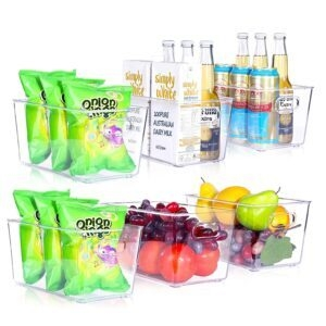 6-Pack Stackable Refrigerator Organizer Bins – Clip Coupon + Coupon Code 3GUVRXHQ – $21.44 (was $32.99)