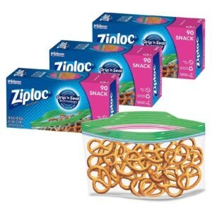 90-Count Ziploc Snack and Sandwich Bags for On the Go Freshness – Price Drop + Clip Coupon – $6.85 (was $10.09)