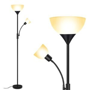 BoostArea LED Floor Lamp – Clip Coupon + Coupon Code P3R9FDGR – $23.49 (was $46.99)
