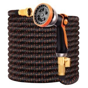 Double Couple 75FT Water Hose with 10-Function Nozzle – Coupon Code V5C7NG5K – Final Price: $16.49 (was $32.99)