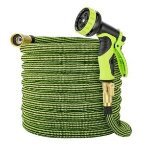 Eleegan 50 ft Water Hose with 10 Function Nozzle – Clip Coupon + Coupon Code ESFE6Q5L – $11.59 (was $28.99)