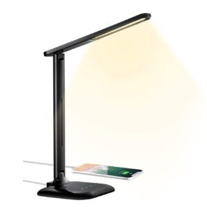 HOMTECH LED Desk Lamp with USB Charging Port – Coupon Code PL86ZUCD – Final Price: $12.99 (was $28.86)