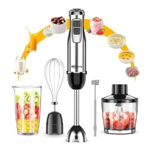 Makoloce 800W 12-Speed 5-in-1 Immersion Hand Blender – Coupon Code L3O69TR9 – Final Price: $19.82 (was $39.65)