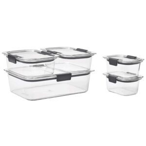 Set of 5 Rubbermaid Brilliance Leak-Proof Food Storage Containers with Airtight Lids – Price Drop – $16.88 (was $19.98)