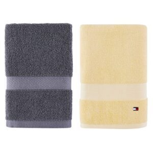 Tommy Hilfiger 100% Cotton Modern American Bath and Hand Towel – Price Drop – Up to 60% Off