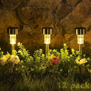 12-Pack Sowsun Solar Pathway Lights – Clip Coupon + Coupon Code HQENYZJB – $9.99 (was $19.99)