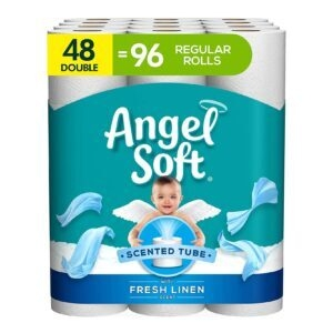 48-Pack Angel Soft Toilet Paper with Fresh Linen Scent – Price Drop – $17.49 (was $22.99)