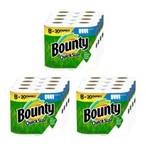 Bounty Quick-Size Paper Towels – Add 3 to Cart – Price Drop at Checkout – $37.14 (was $52.14)